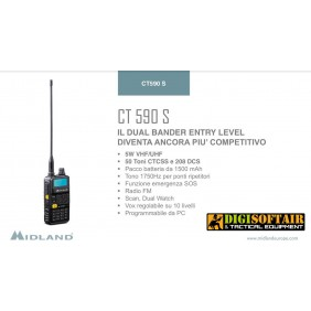 MIDLAND CT590S VHF UHF dual band transceiver