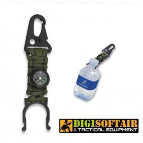Paracod bottle holder with compass