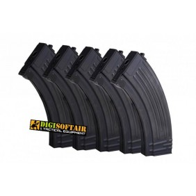 Set 5 magazines mid cap for AK47 E&L 120bbs