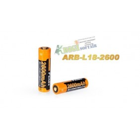 FENIX Batteria Ricaricabile 18650 2600 mAh
