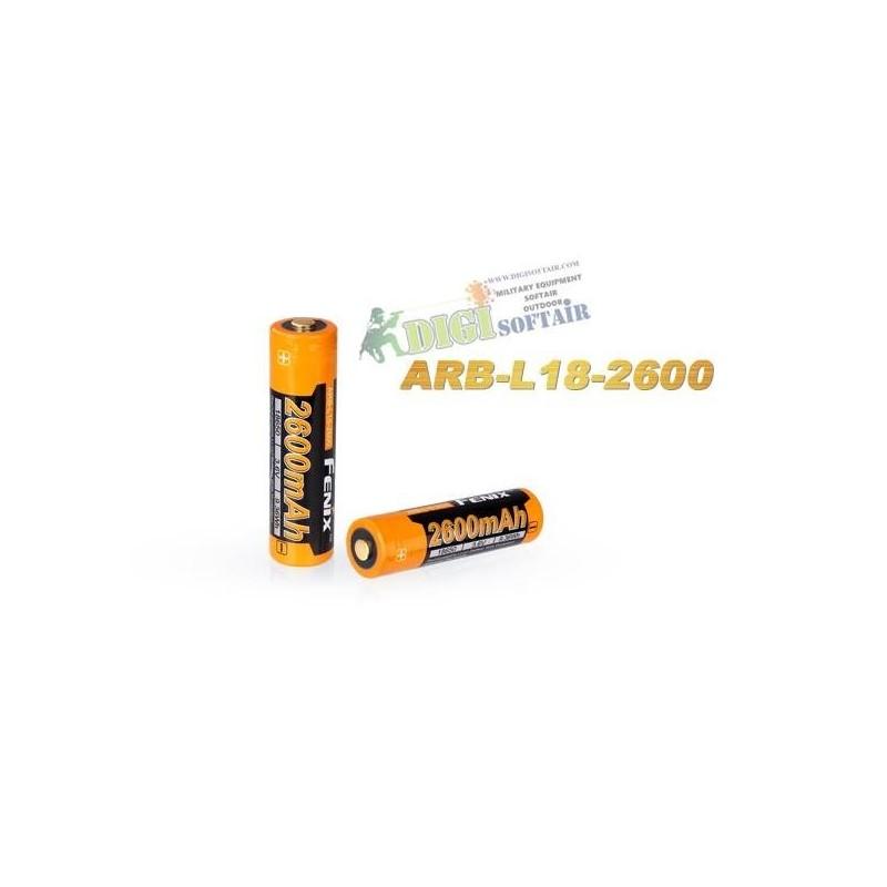 FENIX 18650 2600 mAh Rechargeable Battery ARB-L2