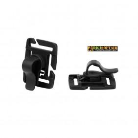 Molle multiclip black 2-pack FOSCO