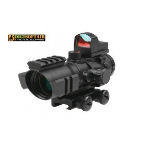 Rhino 4X32 Scope with Micro Red Dot Sight