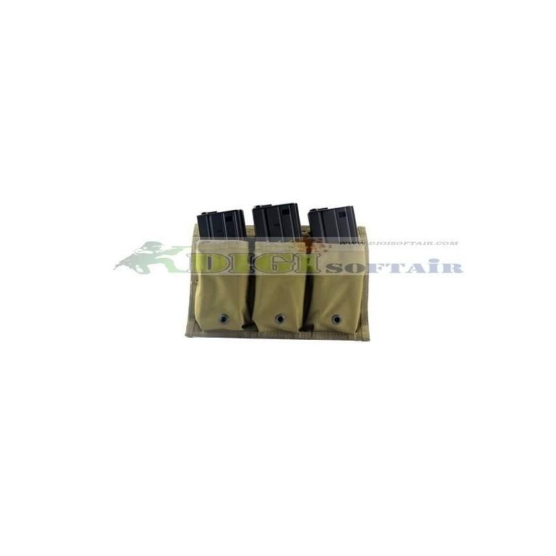 FLYYE RAV Triple M4M16 Mag Pouch KH