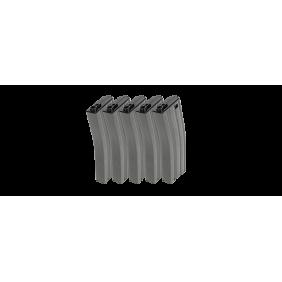 1G&G 25R Metal Mid-cap Magazine for GR16 (Gray) 5pcs/pack