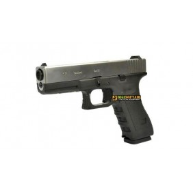WE model glock G17 GEN 4 silver slide
