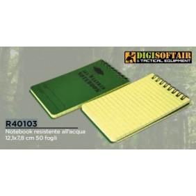 Waterproof notebook 12.1x7.8cm  50 sheets