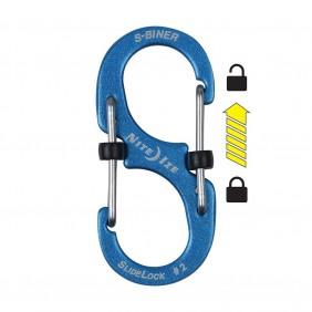 Nite Ize SLIDELOCK S-BINER 2 aluminum blue