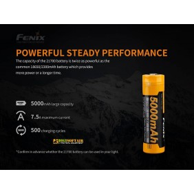 FENIX Batteria Ricaricabile 21700 5000 mAh