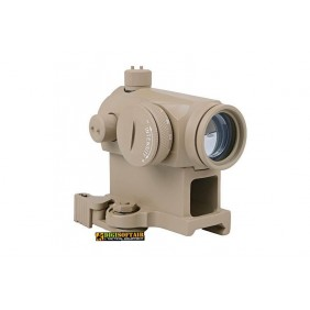 T1 red dot sight replica with QD mount and low mount - tan