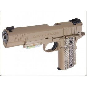 Colt 1911 Rail Gun CO2 desert tan