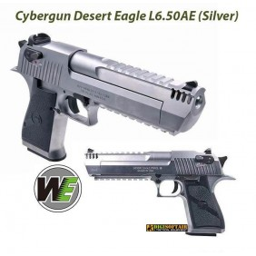 WE Silver Desert Eagle gas blowback official Cybergun license