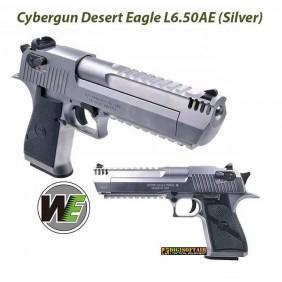 Silver Desert Eagle gas blowback su licenza ufficiale Cybergun