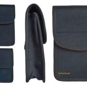 BLUE Cordura/Nylon padded utility pouch with velcro 11x14x3,5 cm vega holster 2G69