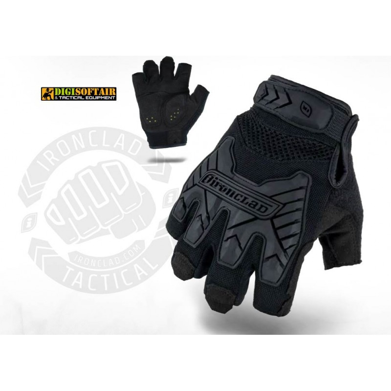 Ironclad Tactical fingerless impact glove black BB-FI 01