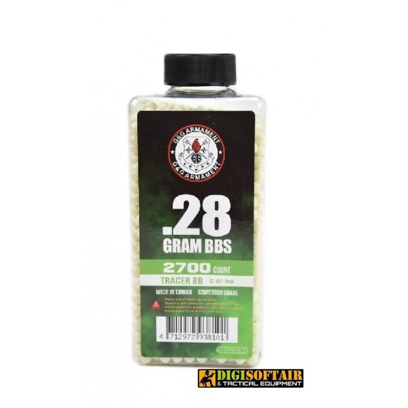 0.28g Bio G&G Tracer BB PLA 2700rds Biodegradable