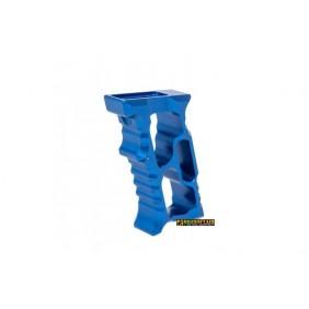 5KU M-LOK/KEYMOD Aluminum Angled Forward Grip - Blue