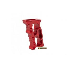 5KU M-LOK/KEYMOD Aluminum Angled Forward Grip - RED