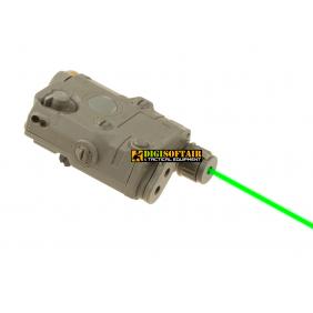 AN/PEQ 15 La5 Green Laser dark earth FMA