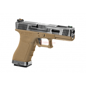 WE G-FORCE 17 series desert, silver slide blowback