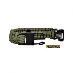 "Bracelet, ""Paracord"", OD green, width 1,9 cm"