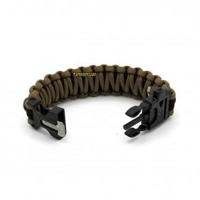 """Bracelet, """"Paracord"""", coyote tan, width 1,9 cm"""