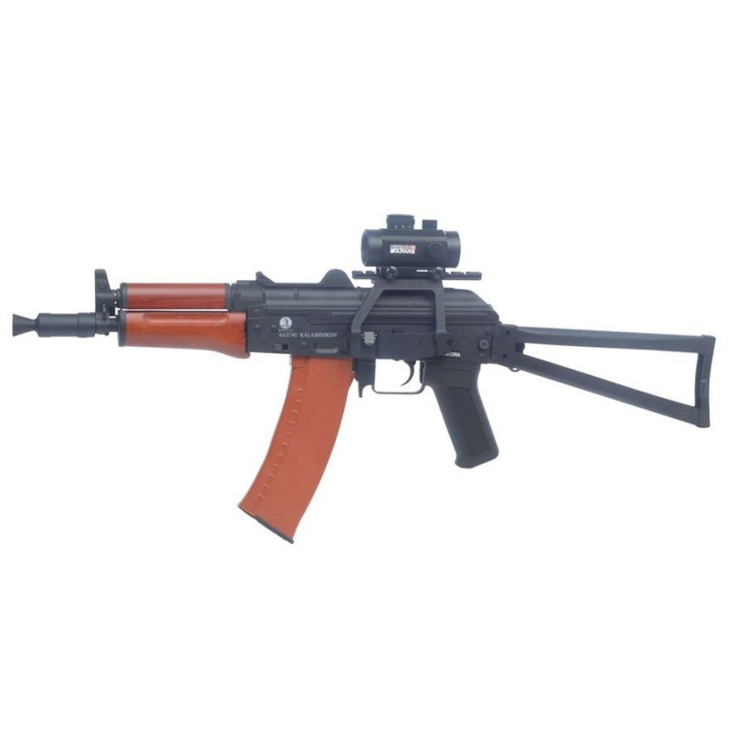 Kalashnikov AKS74U AEG metal wood