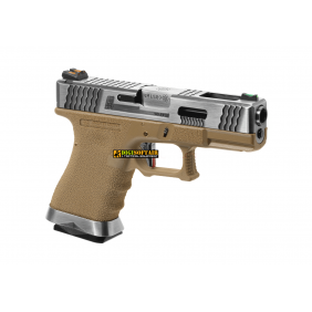 WE G-Force 19 SV Silver Barrel Metal Version Desert GBB