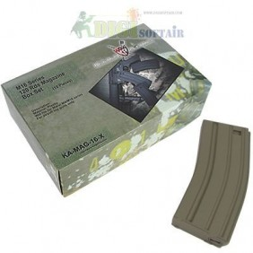 King Arms Box 10 caricatori monofilari Desert 120bb M4 M16 series