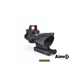 AIM-O 4X32C ACOG (Fibre Optics Illumination + RMR Sight) Replica - Black AMO-10-013657