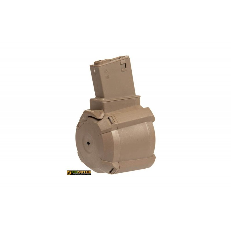 Tornado electric drum magazine tan 1200rds for m4