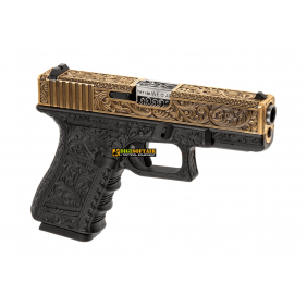 WE modello glock G19 ETCHED IVORY METAL VERSION GBB