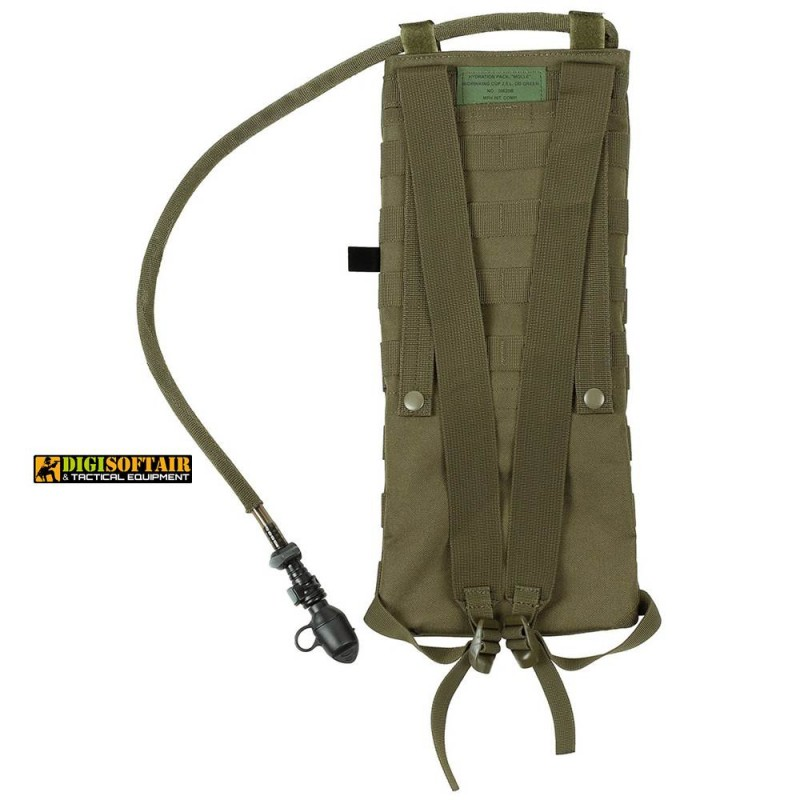 """Hydration Pack, """"Molle"""", w/drinking cup 2,5 l, OD green"""