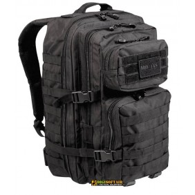 36 liters BLACK BACKPACK US ASSAULT LARGE Miltec