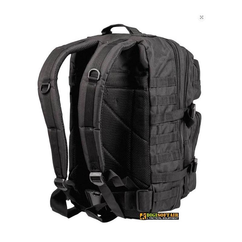 36 liters BLACK BACKPACK US ASSAULT LARGE Miltec 14002202
