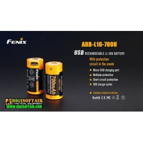 Fenix battery 16340 700mAh ARB-L16-700U