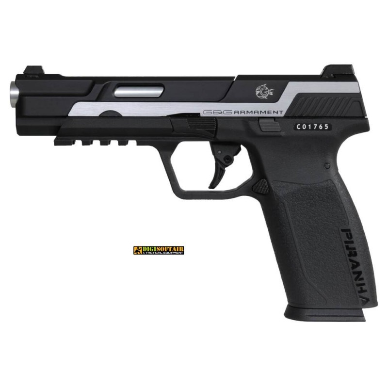 copy of G&G Piranha MK1 GBB pistol Piranha black silver