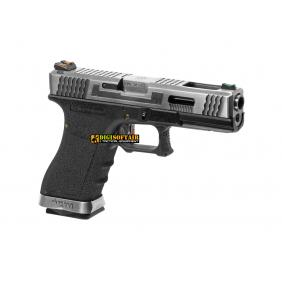 WE G force 18C custom series black, silver slide