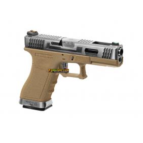 WE G force 18C custom series Desert, silver slide