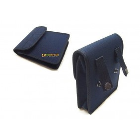 Blue Cordura/Nylon padded utility pouch with velcro 14x16x3.5