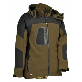 Softshell Sweden Cofra colore Fango, impermeabile e antivento