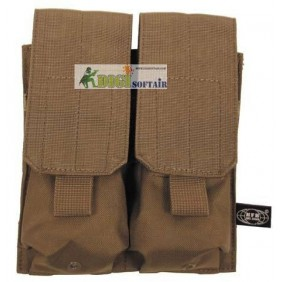 MFH Mag Pouch double Molle coyote tan