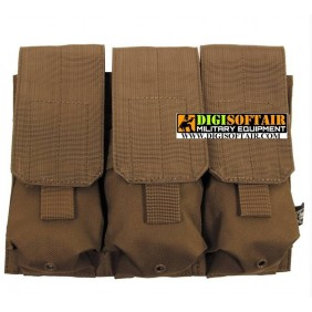 MFH Mag pouch triple Molle coyote tan