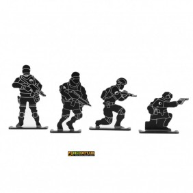 Bersagli in metallo Soldiers Target WO-TG12B