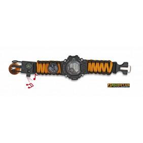 Black Orange Watch with survival set 33889-NA
