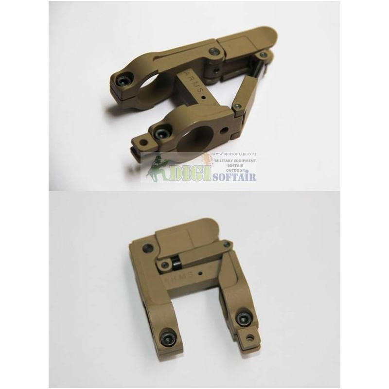 ARMS style SILHOUETTE 41B Desert - BARREL MOUNTED w/ Iron sight