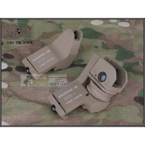 DUECK DEFENSE RTS SIGHT SET TAN