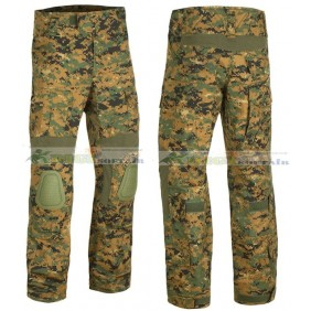 Predator Combat Pants Invader Gear Pantalone Combat con ginocchiere Digital woodland (Marpat)