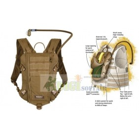 Rider 3L Low Profile Hydration Pack SOURCE COYOTE BROWN
