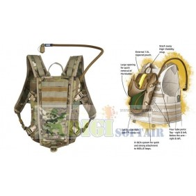 Rider 3L Low Profile Hydration Pack SOURCE MULTICAM